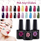 Cheap Coscelia Pick Any 15 Colors UV Gel Nail Polish Nail Art Home Salon Set