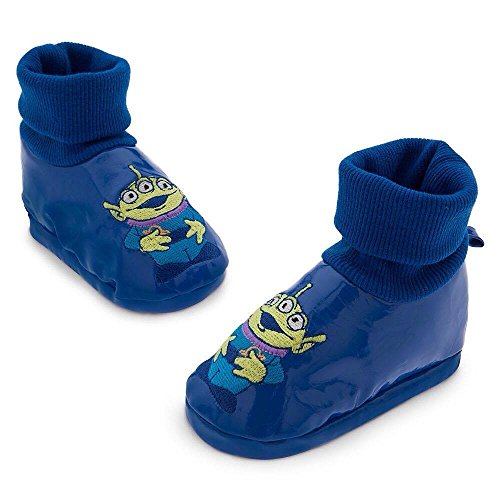 Disney Store Toy Story Alien Soft Blue Baby Costume Shoes Size 18-24 Months (2)