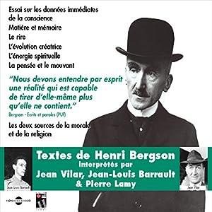 Essai sur les données immédiates de la conscience (Textes de Henri Bergson) Audiobook