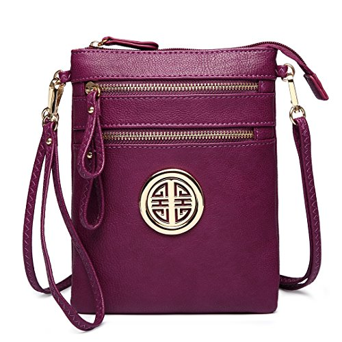 Miss Lulu Fashion Leisure Crossbody Shoulder Pouch Bag for Women Girls 1417 Purple