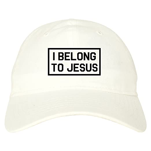 5a5eb5370f788 Kings Of NY I Belong to Jesus Mens Dad Hat Baseball Cap Beige at Amazon  Men s Clothing store