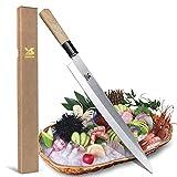 BIGSUNNY Sashimi Sushi Knife 12 Inch Long Blade
