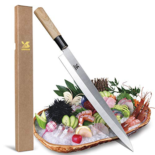 BIGSUNNY Sashimi Sushi Knife 12 Inch Long Blade by MSY BIGSUNNY (Image #6)