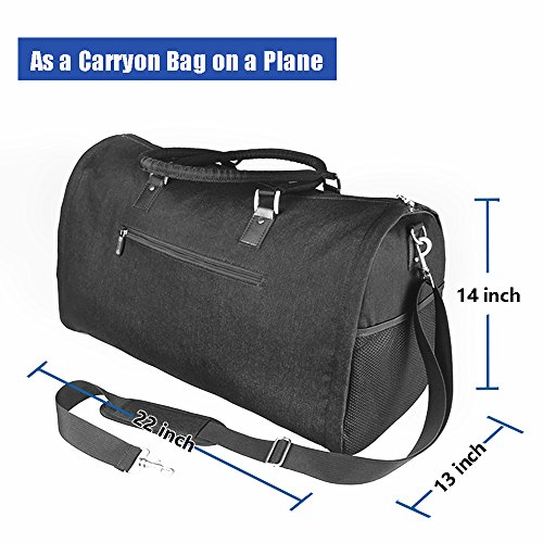 Two-In-One Convertible Travel Garment Bag Carry On Suit Bag, Easily Transforms Into a Sports Duffel by GYSSIEN (Image #4)