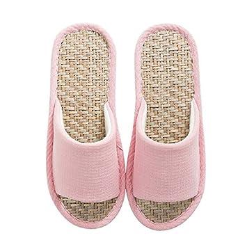 WXMTXLM Zapatillas de verano Malan hierba casa paja zapatillas verano hogar oficina piso casa masculina sandalias