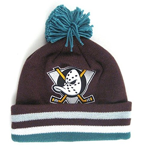 Anaheim Mighty Ducks Mitchell & Ness Jersey Stripe Knit Hat