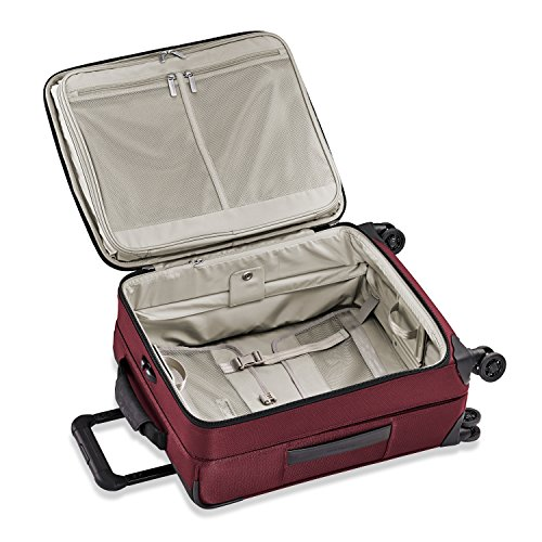 Briggs & Riley Transcend Wide Carry-on Expandable Spinner, Merlot by Briggs & Riley (Image #3)