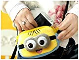 Adorable Despicable Me plush 3D minion eyes mini hand bag