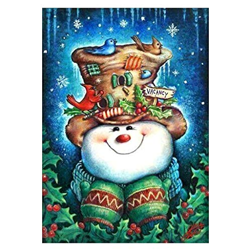 GMSP Christmas Snowman 5D Diamond Embroidery Painting DIY Painting Cross Stitch Home Decorations Kids Presents Birthday -
