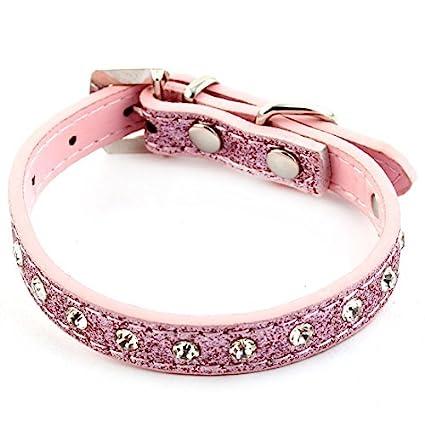 eDealMax Anillo colgante Con incrustaciones de Diamantes de imitación de imitación decoración Correa Ajustable Collar del