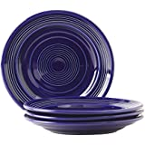 """Tuxton Home Concentrix Salad Plate (Set of 4), 7 1/2"""", Cobalt Blue; Heavy Duty; Chip Resistant; Lead and Cadmium Free; Freezer to Oven Safe up to 500F"""