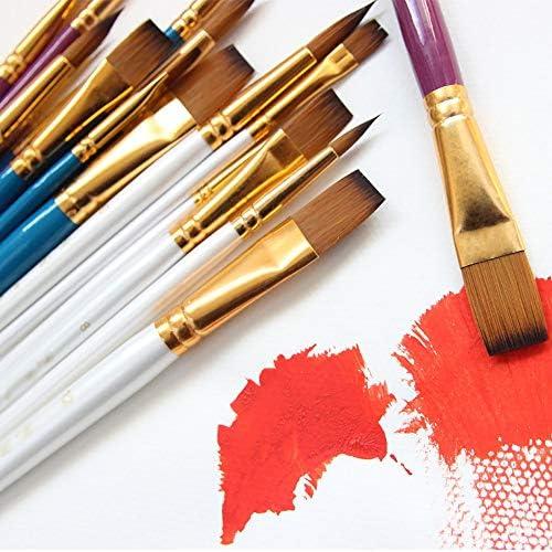 SDAKVDNS 髪を失う6ブラシ付きナイロンウールアート、快適なグリップ、容易ではないによって変形、容易ではない、オイルは、ブラシのためにアートやアート絵画絵画