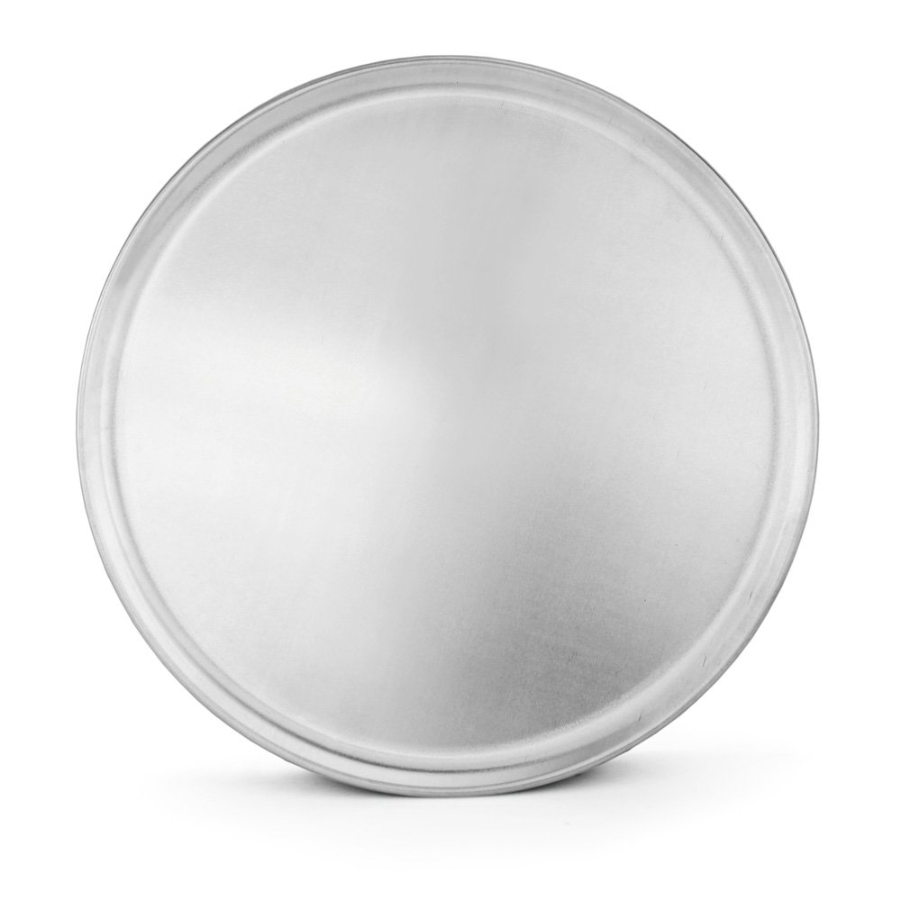 New Star Foodservice 51001 Pizza Pan/Tray, Coupe Style, Aluminum, 8 inch, Pack of 6