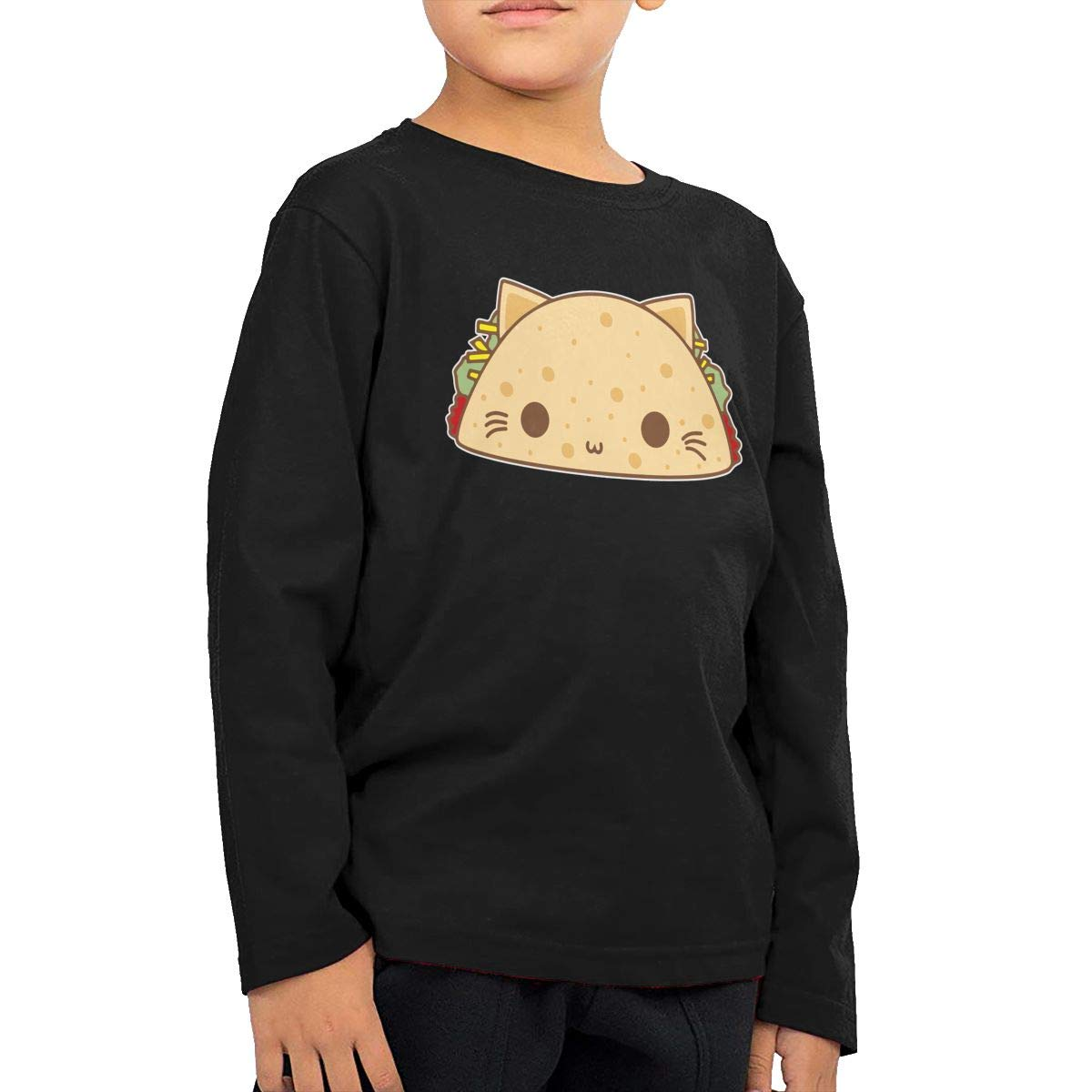 Toddler Kids Taco Cats Printed Long Sleeve 100/% Cotton Infants Tops
