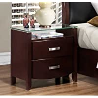 Homelegance Lyric 2 Drawer Nightstand in Dark Espresso