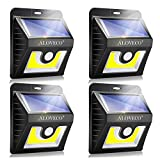 Solar Motion Sensor Lights Outdoor, Super Bright COB 36 LED Wireless Waterproof Solar Wall Outside Lighting, Solar Security Light for Porch Patio Yard Deck Stairway Driveway (4 Packs)