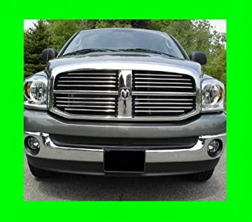 312 Motoring fits 2003-2009 Dodge RAM Chrome Grille Grill KIT 2004 2005 2006 2007 2008 03 04 05 06 07 08 09 1500 2500 3500 Laramie SLT ST Big Horn ...