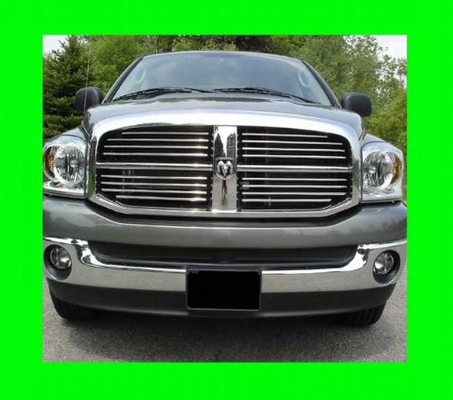 312Motoring 2003-2009 DODGE RAM CHROME GRILLE GRILL KIT 2004 2005 2006 2007 2008 03 04 05 06 07 08 09 1500 2500 3500 LARAMIE SLT ST BIG HORN SRT-8 - 3500 Grill Truck Chrome