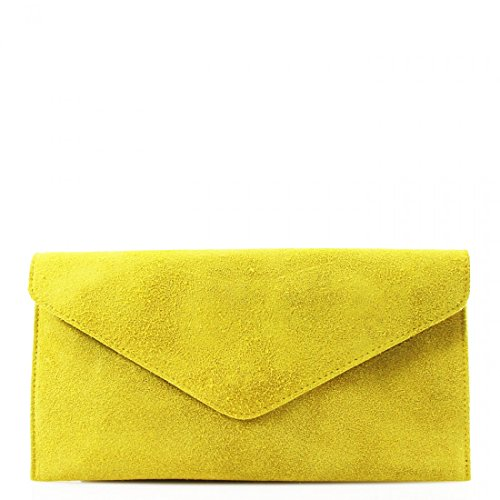 PARTY CROSS SUEDE LEATHER BAGS SHOULDER WKDS Yellow CLUTCH BAGS SIDE REAL BODY WOMEN LADIES PROM BqEwwxn7zF