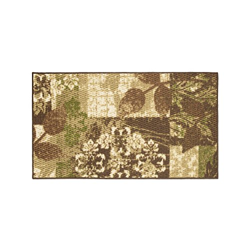 Modern Living Leaves Decorative Area Accent Rug, 18 by - Inch 30 Accent