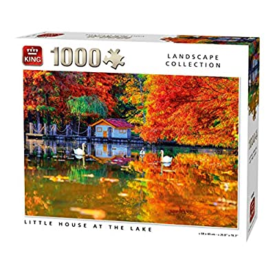 King 55882 Little House At The Lake Puzzle 1000 Pezzi A Colori 68 X 49 Cm