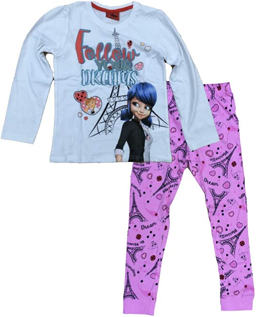 Miraculous Ladybug - Pijama Rosa. 140: Amazon.es: Ropa y ...