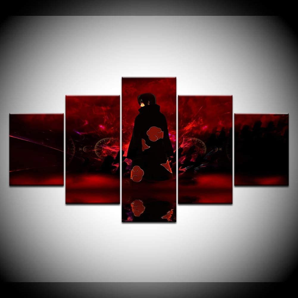 100cm Decoraci/ón del hogar Decoraci/ón Mural Fondo Cuadros para Colgar en la Pared SUGOO Mural Cuadros Colgantes de Lienzo de 5 Piezas Animal Tigre Dormitorio Oficina etc sin Marco