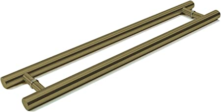 Entry Door Pull Handle Matte Gold Long 304 stainless Steel Brass Plated