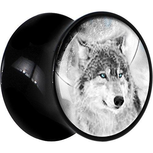 BodyCandy Negro Acrílico Azul Ojos De Lobo Dilatador Par 18mm: Amazon.es: Joyería