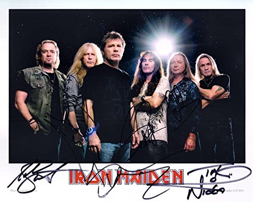 (IRON MAIDEN metal band reprint signed promo photo RP)
