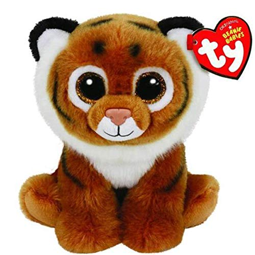 Ty Beanie Babies - Ty Beanie Babies 10 Quot 25cm Tiggs Brown Bengal Tiger Plush Medium Soft Stuffed Animal Collectible - Nana Lizard Lobster Valentina Nanook Chain Original Eucalyptus Marshall Co -