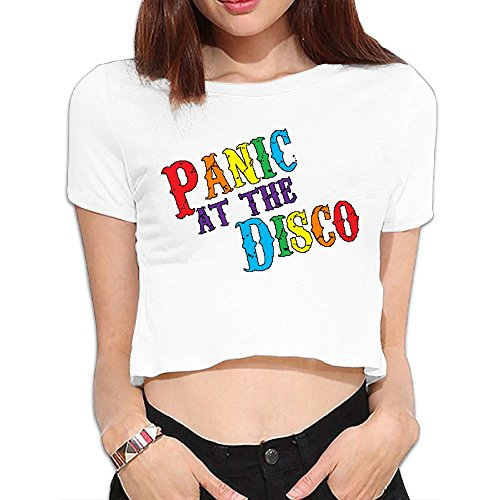 LEE75S Panic! At The Disco Girls Comfortable 1970s Crop Top