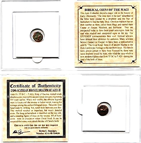 35 MX magi ANCIENT Biblical Coin of The Magi,Bronze, 35 BC-5 AD,With Mini Album,Certificate & Story 18mm -