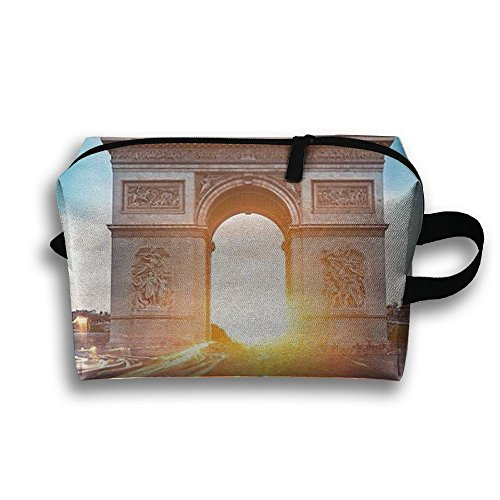 Travel Pouch Storage Bags Baskets Arc De Triomphe France Sunset Women And Girl Waterproof Jewelry Bags 45x35cm