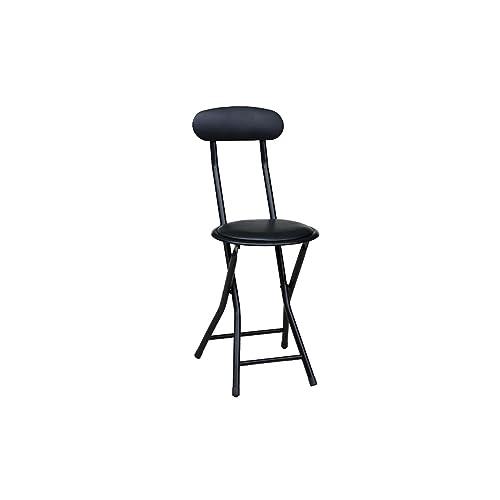 American Dream Home Goods Barstool 710-BK Folding Chair, Black