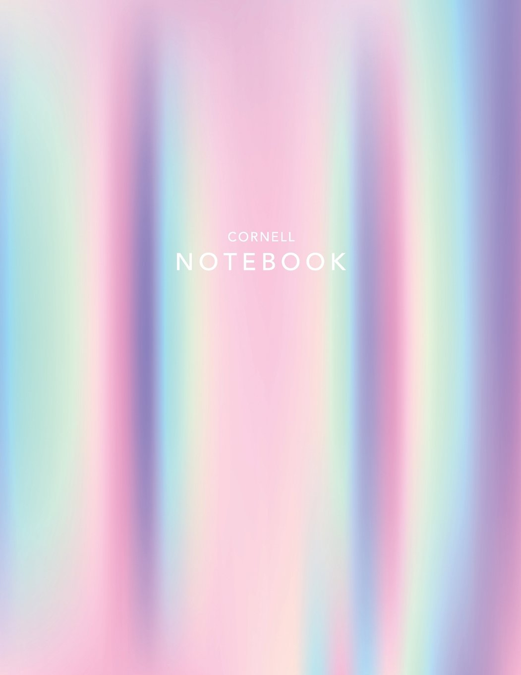 Cornell Notebook Holographic Foil 120 White Pages 8 5x11