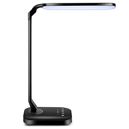 Tomcare led desk lamp with usb charging port 15w dimmable desk lamp flexible table lamps office