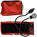 MABIS MatchMates Aneroid Sphygmomanometer Manual Blood Pressure Monitor Kit with Calibrated Nylon Cuff