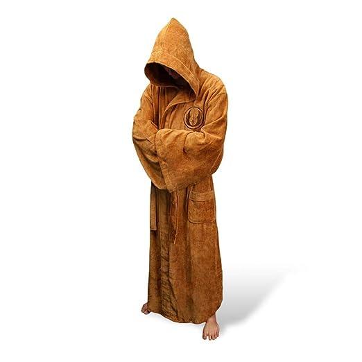 1PC Caballero Jedi Robe Fleece Batas Disney Star Wars Albornoz cosplay Set para el hombre y la mujer (L, Brown): Amazon.es: Belleza