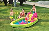 Pool Central 117'' Ocean Life Themed Inflatable Children's Play Pool with Slide