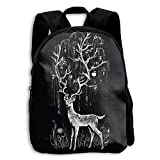 Kids Backpack Black Fawn Casual Children Backpacks School Bag Daypack Gift