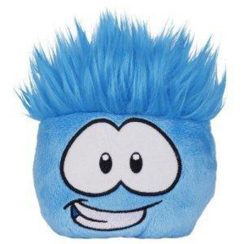 Disney Club Penguin 4 Inch Series 11 Plush Puffle Blue Includes Coin with Code!