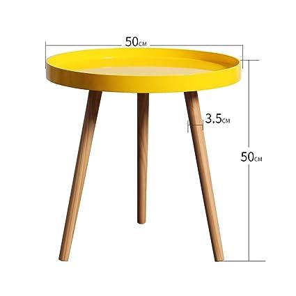 Tavolo Rotondo Economico.Tavolo Rotondo In Legno Massello Tavolino Divano Tavolino