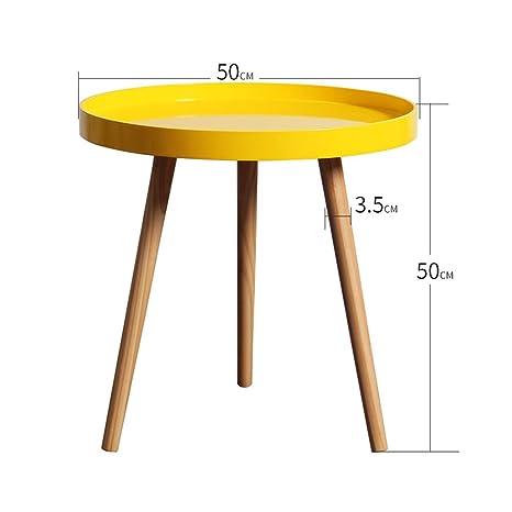 Tavolo rotondo in legno massello tavolino divano tavolino basso ...