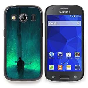"Qstar Arte & diseño plástico duro Fundas Cover Cubre Hard Case Cover para Samsung Galaxy Ace Style LTE/ G357 (Resumen Bat"")"