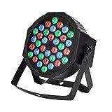CITRA DJ Lights 36 LEDs DMX 512 RGB Color Mixing Wash Can Par Light for Disco Diwali Christmas Wedding Party Show Live Concert Stage Lighting (Black) (BLACK)