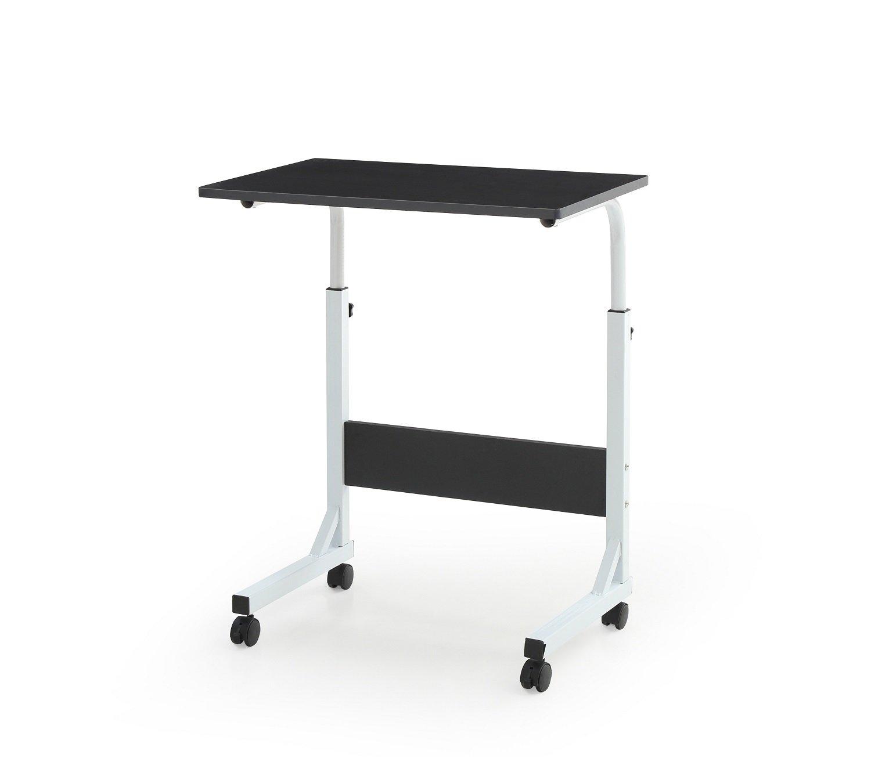 HODEDAH IMPORT Hodedah Laptop Desk with Adjustable Height and Casters, Black