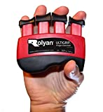 Rolyan Ultigrip Finger Exercisers, Red, 3-Pounds, Finger & Grip Strengthener for Physical Therapy, Ergonomic Hand Workout Aid, Portable Hand Exerciser for Home, Clinic, & Rehabilitation