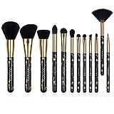 Docolor 12 Pcs Skull Printed Goth Makeup Brushes Set Foundation Blush Contour Eyeshadow Brushes