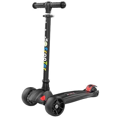 Scooter para Niños Scooters para Niños con 4 Ruedas Paseos Al Aire Libre En Bicicleta para